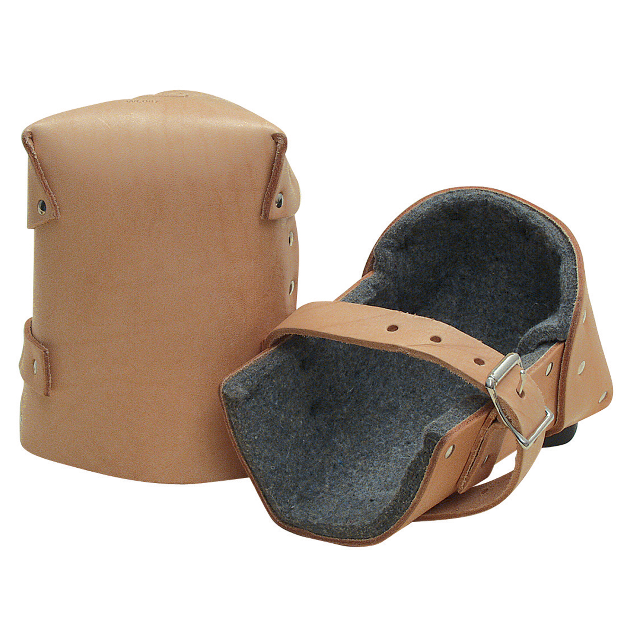 1inch Thick Felt Leather Knee Pads (pair) - Wl088 - Safety & Security Gloves & Hand Protection Leather Palm Leather Palm Gloves WL088
