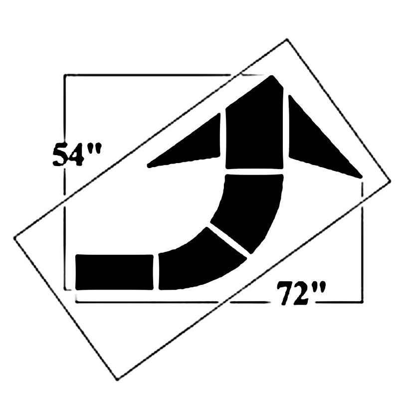 72 Inch Federal Curved Arrow Stencil - 10002933 - Outdoor & Grounds Maintenance Polytough Stencils And Templates Parking Lot Stencils 10002933