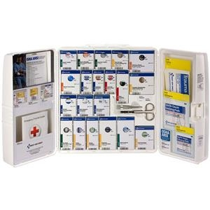 50-person Ansi A+ Large Smartcompliance First Aid Cabinet With Medications - 90608ac - Safety And Security First Aid Ansi First Aid Kits 90608AC