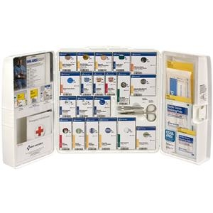50-person Ansi A+ Large Smartcompliance First Aid Cabinet Witho Medications - 90580ac - Safety And Security First Aid Ansi First Aid Kits 90580AC