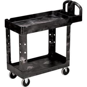 "Rubbermaid Heavy-duty Utility/service Cart; 39""l X 33 1/4""h X 17 7/8""w - 450088bkrm - Janitorial Products Carts 450088BKRM"