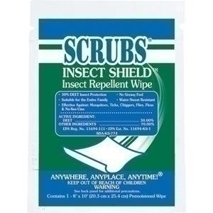 Foodservice & Appliances Pest Control Insecticides & Repellents Insecticides & Repellents - 91401dy - Scrubs Insect Shield Insect Repellent Wipes 91401DY