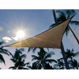 Janitorial And Maintenance Awnings Canopies And Shelters Shade Sails - B431228 - 12 Feet Triangle Shadesail-sand B431228