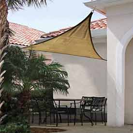 Janitorial And Maintenance Awnings Canopies And Shelters Shade Sails - B431229 - 16 Foot Triangle Shadesail-sand B431229