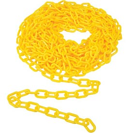 "Fencing & Barriers Safety & Crowd Control Barriers Crowd Control Posts & Ropes - B765372 - 2"" Heavy Duty Plastic Chain; 50 Feet; Yellow B765372"