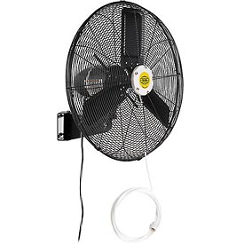 Hvacr And Fans Evaporative Coolers And Swamp Coolers Portable Evaporative Coolers - 292456 - 24 Inch Outdoor Misting Oscillating Wall Mounted Fan 3/10 Hp 7;700 Cfm 292456