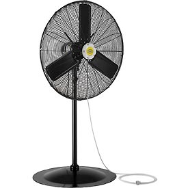 Hvacr And Fans Evaporative Coolers And Swamp Coolers Portable Evaporative Coolers - 292455 - 30 Inch Outdoor Misting Oscillating Pedestal Fan 3/10 Hp 8;400 Cfm 292455