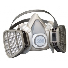 Safety And Security Respiratory Protection N Series Cartridges And Filters - B313169 - 3m 5000 Series Half Facepiece Respirators; 5301 B313169