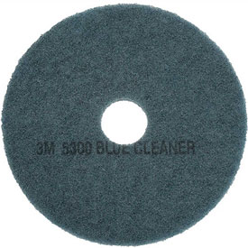 Janitorial And Maintenance Floor Care Machines And Vacuums Accessories Floor Pads And Brushes - B134545 - 3m Blue Cleaner Pad 5300; 17 In; 5/case B134545