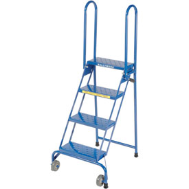 Tools And Instruments Ladders Rolling Steel Ladders - 253808 - 4 Step Lock-n-stock Folding Ladder-ls4247 253808