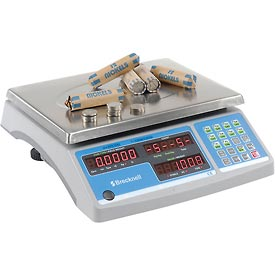 "Packaging And Supplies Scales Counting Scales - B1308736 - Brecknell Digital Counting &amp Coin Scale 60lb X 0.002lb 11-1/2"" X 8-3/4"" Platform B1308736"