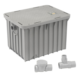 Plumbing And Pumps Drains And Traps Interceptors And Traps - 242720 - Canplas Endura 20gpm Grease Trap 242720
