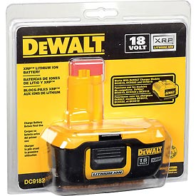 Tools And Instruments Batteries Chargers And Accessories Cordless Tool Batteries And Chargers - B242693 - Dewalt Dc9182 18 Volt Xrp Li-ion Battery B242693