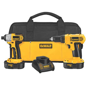 Tools And Instruments Drills Drivers And Bits Power Drill Combo Kits - 534367 - Dewalt Dck235c 2-tool 18v Cordless Compact Drill/impact Combo Kit 534367