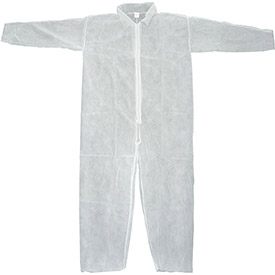 Disposable Coveralls With Open Ended Wrists/ankles; White; M-pkg Qty 25 - 754323m - Protective Clothing Disposable Coveralls & Overalls 754323M
