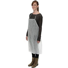 Safety And Security Protective Clothing Disposable Coveralls And Overalls - 754327 - Disposable Polypropylene Apron-pkg Qty 100 754327