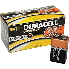 Tools And Instruments Batteries Chargers And Accessories Disposable Batteries - B815813 - Duracell Coppertop 9v Batteries With Duralock Power Preserve-pkg Qty 12 B815813