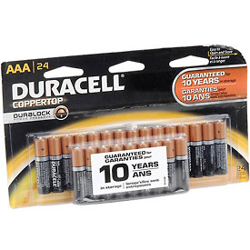 Tools And Instruments Batteries Chargers And Accessories Disposable Batteries - B815810 - Duracell Coppertop Aaa Batteries With Duralock Power Preserve-pkg Qty 24 B815810