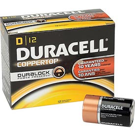 Tools And Instruments Batteries Chargers And Accessories Disposable Batteries - B815811 - Duracell Coppertop D Batteries With Duralock Power Preserve-pkg Qty 12 B815811