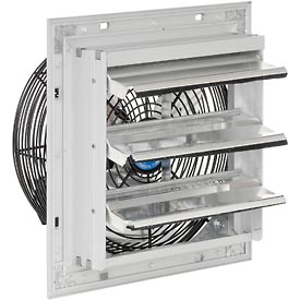 "Hvacr And Fans Exhaust Fans And Ventilation Exhaust Fans Shutter And Guard Mount - 248448 - Exhaust Ventilation Fan With Shutter 10"" Single Speed With Hardware 248448"