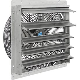 "Hvacr And Fans Exhaust Fans And Ventilation Exhaust Fans Shutter And Guard Mount - 294496 - Exhaust Ventilation Fan With Shutter 18"" Single Speed With Hardware 294496"
