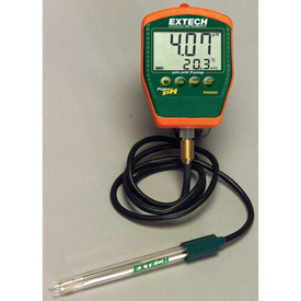 Tools And Instruments Test Measurement And Inspection Temperature And Environment Testing - B1642127 - Extech Ph220-c Waterproof Palm Ph Meter With Temperature; Electrode With Cable B1642127
