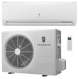 Hvacr And Fans Air Conditioners Ductless Split Air Conditioner - B2116309 - Friedrich Ductless Split System With Heat Pump Mm18yj-18;000 Btu; 16 Seer; 208/230v B2116309