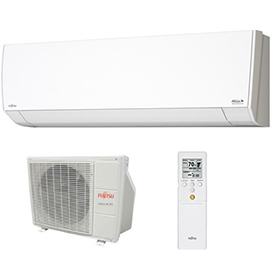 Hvacr And Fans Air Conditioners Ductless Split Air Conditioner - B2228899 - Fujitsu General Halcyon 9rlfw1 Ductless Split Ac With Heat Pump; 9;000 Btu; 23 Seer; 208/230v B2228899