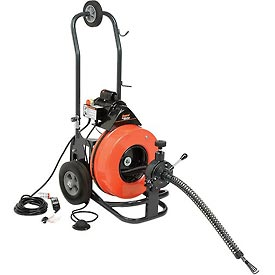 """Plumbing And Pumps Plumbing Tools And Equipment Drainpipe Cleaning Machines - B213978 - General Wire P-me-c-s The Metro Drain/sewer Cleaning Machine With 100' X 9/16"""" Cable &amp 4 Pc Cutter Set B213978"""