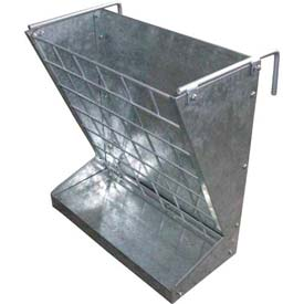 Outdoor And Grounds Maintenance Animal Housing And Livestock Animal Feeders And Waterers - B549090 - Little Giant 2-in-1 Hookover Goat And Sheep Feeder 168793; Galvanized Steel B549090
