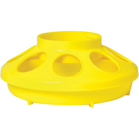 Outdoor And Grounds Maintenance Animal Housing And Livestock Animal Feeders And Waterers - B900478 - Little Giant 806; Poultry Feeder Base For 690 Jar; Yellow B900478