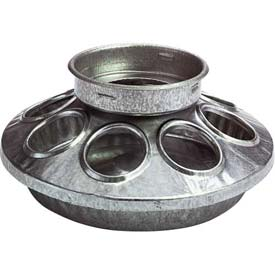 Outdoor And Grounds Maintenance Animal Housing And Livestock Animal Feeders And Waterers - B900576 - Little Giant Chick Feeder Base 9810; Galvanized Steel; Use With Little Giant 690 Jar B900576