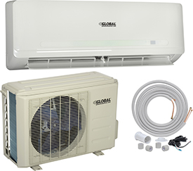 Hvacr And Fans Air Conditioners Ductless Split Air Conditioner - 292567 - Global Ductless Air Conditioner 18000 Btu Cool; 18000 Btu Heat; Seer 20 292567