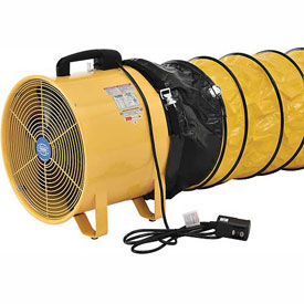 Hvacr And Fans Exhaust Fans And Ventilation Solar Ventilation - 292647 - Global Portable Ventilation Fan 16 Inch With 32 Feet Flexible Ducting 292647