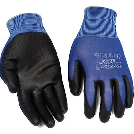 Safety And Security Gloves And Hand Protection Coated - B1105867 - Hyflex Light Weight Gloves; Ansell 11-618; Black Pu Palm Coat; Size 8; 1 Pair-pkg Qty 12 B1105867