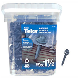 "Itw Teks Roofing Screw-9 X 1-1/2""-hex Head-pkg Of 400-21406 - B2186284 - Fasteners And Hardware Self Drilling Screws Square Trim Head Self Drilling Screws B2186284"