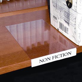 Label Holder; Moveable Shelf; Clear (10 Pcs/pkg) - B245568 - Worker Safety And Security National Marker Labels And Tags B245568