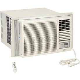 Hvacr And Fans Air Conditioners Portable Air Conditioners - 653538 - Lg Window Air Conditioner With Remote Control Lw2416hr; 23;000 Btu Cool 9;400/11;600 Btu Heat 653538