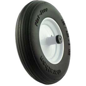 "Material Handling Casters Wheels And Tires - B639927 - Marathon 00001 4.80/4.00-8 Flat Free Wheelbarrow Tire Ribbed Tread-6"" Centered-5/8"" Bearings B639927"