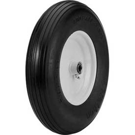 "Material Handling Casters Wheels And Tires - B639930 - Marathon 00065 4.80/4.00-8 Flat Free Cart Tire-ribbed Tread-3"" Centered-5/8"" Bearings B639930"