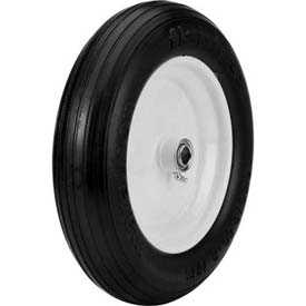 "Material Handling Casters Wheels And Tires - B639917 - Marathon 00083 3.50/2.50-8 Flat Free Ribbed Tread-3"" Centered-3/4"" Bearings B639917"