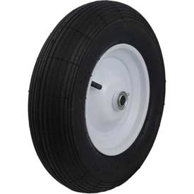 "Material Handling Casters Wheels And Tires - B639920 - Marathon 20065 4.80/4.00-8 Ribbed Tread Pneumatic-3"" Centered Hub-5/8"" Bearing B639920"