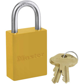 Master Lock Safety 6835 Series Aluminum Padlock; Hi-vis Yellow; 6835ylw - B730023 - Tools & Instruments Locking & Lockout Devices Safety Lockout Padlocks B730023