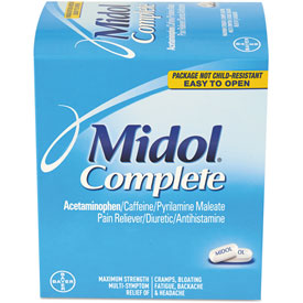 Safety And Security First Aid Medicinals - B2169583 - Midol Menstrual Complete Caplets; Two-pack; 30 Packs/box B2169583