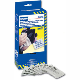 Safety And Security Respiratory Protection Cartridge Respirators - B314735 - North By Honeywell 7003; Respirator Cleaning Wipes; 100/box B314735