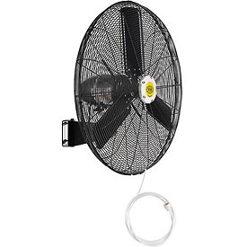 Hvacr And Fans Evaporative Coolers And Swamp Coolers Portable Evaporative Coolers - 292457 - Outdoor Misting Oscillating Wall Mounted Fan; 30 In. Diameter; 3/10 Hp; 8;400 Cfm 292457