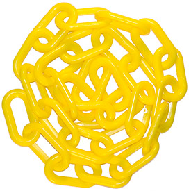 "Plastic Chain-2"" Links-in A Bag-yellow-50 Feet - B549209 - Fencing & Barriers Safety & Crowd Control Barriers Crowd Control Posts & Ropes B549209"