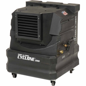 Portacool Cyclone 2000 Evaporative Cooler Paccyc02 Direct Drive 2 Speed 10-gal Reservoir Black - 246560bk - Hvacr And Fans Evaporative Coolers And Swamp Coolers Portable Evaporative Coolers 246560BK