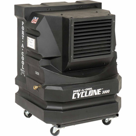Hvacr And Fans Evaporative Coolers And Swamp Coolers Portable Evaporative Coolers - 245881bk - Portacool Cyclone 3000 Centrifugal Air Evaporative Cooler Pac2-kcyc01 Black Two Speed 245881BK