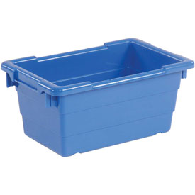 Quantum Cross Stack Nest Tub Tub1711-8-17-1/4 X 11 X 8 Blue-pkg Qty 6 - 603118bl - Cabinets & Storage Containers-nest & Stack 603118BL